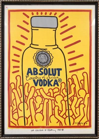 Haring Keith | Absolut Vodka (1987) | MutualArt