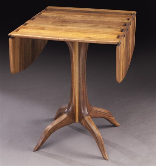 Artwork By Sam Maloof, Walnut Drop Leaf Table