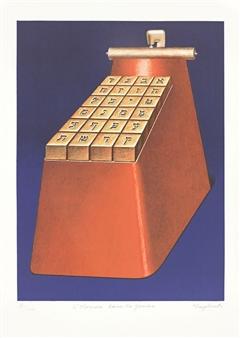 Klapheck Konrad | Von A bis Z (1985) | MutualArt