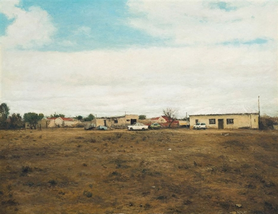 Carl Walter Meyer Parked Cars 1995 Oil On Canvas