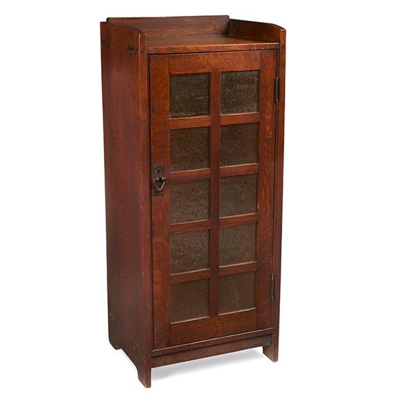 Gustav Stickley Music Cabinet Oak Hammered