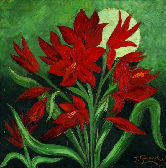 Ganar Tatang Bunga Lily Merah Mutualart