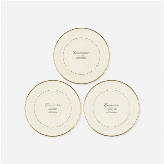 Carrie Mae Commemorative Plates Set Of Three 1992 Mutualart