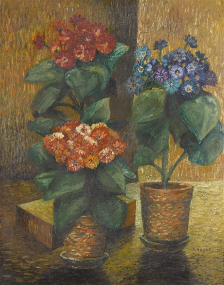 Segal Arthur Stillleben Blumen In Topfen Still Life Flowers In