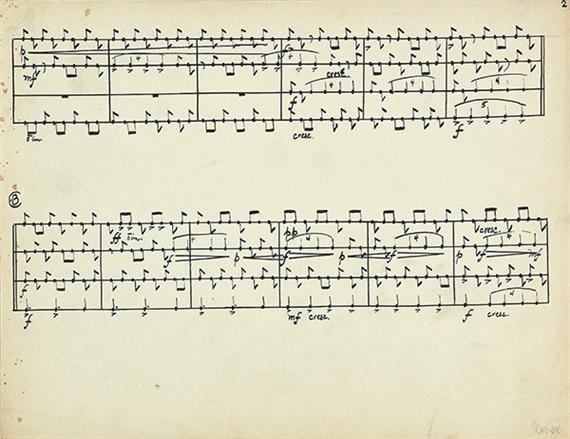 Cage John 3 Notenblatter Zur Komposition Living Room Music 1940