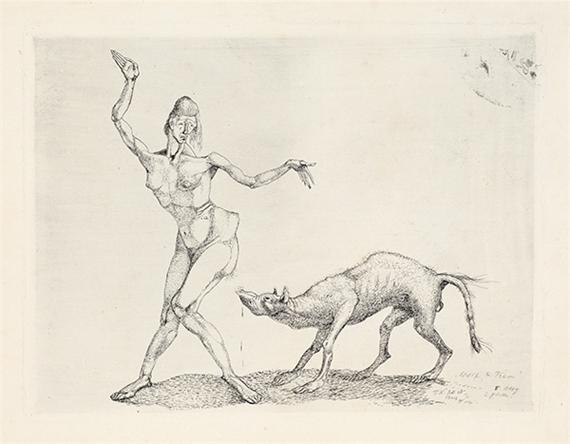 Klee Paul | Weib und Tier (1903) | MutualArt