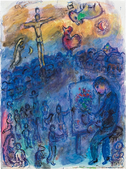 Marc chagall le peintre devant son chevalet for Chagall peintre
