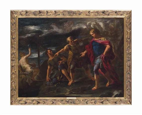 Giovanni Battista Lama   Rinaldo called back to arms by Ubaldo and ...