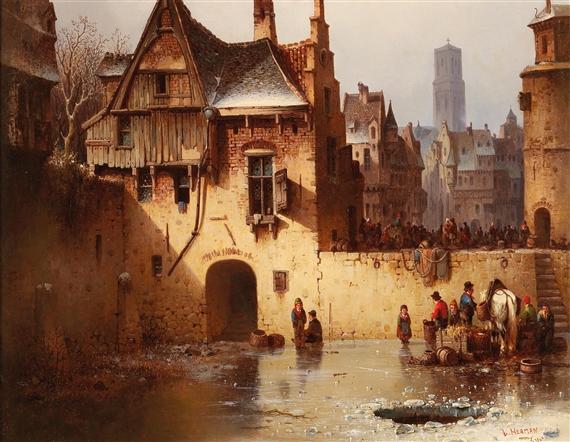 Ludwig Hermann Paintings For Sale