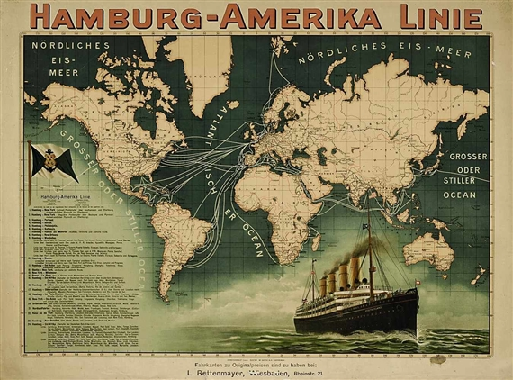 Bohrdt hans 4 works direct sailings to new york red star line artwork by hans bohrdt 4 works direct sailings to new york gumiabroncs Images
