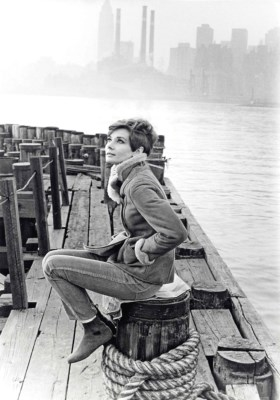 Conant Howel | Audrey Hepburn during filming of the 1957 Warner Bros
