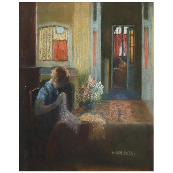 Artworks of nicolae gropeanu romanian 1864 1936 for Scene d interieur blois