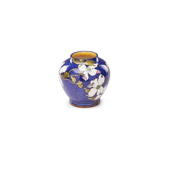 Bennett John Vase With Dogwood Blossoms On Blue Ground 1884