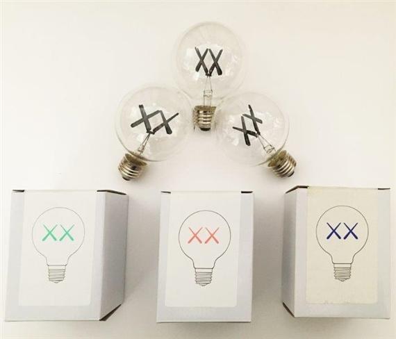 KAWS | Trois ampoules ( rouge, verte et violette) (2011) | MutualArt