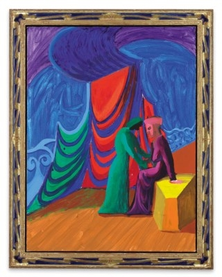 Incredible Hockney David Isolde And Brangane 1987 Mutualart Andrewgaddart Wooden Chair Designs For Living Room Andrewgaddartcom