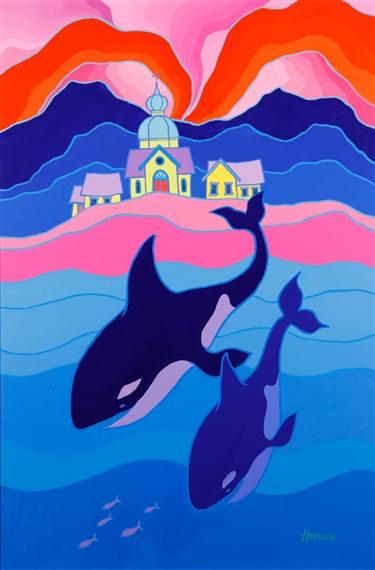 Artworks of Ted Harrison (British, 1926 - 2015)