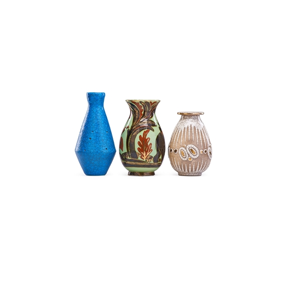 Buthaud Ren Three Vases France Mutualart
