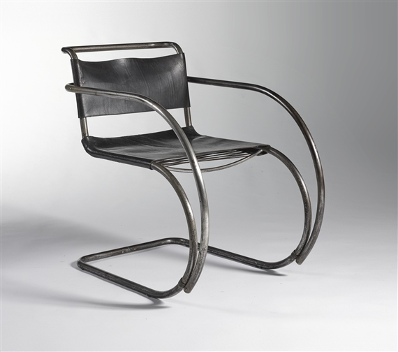 Artwork By Ludwig Mies Van Der Rohe, ARMCHAIR, MODEL NO. MR20, Made