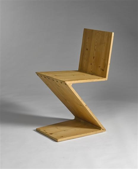 Artwork By Gerrit Rietveld, U0027ZIG ZAGu0027 CHAIR, Made Of Pine And