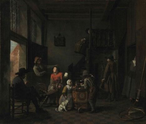 Jan josef horemans the elder a family drinking for Horemans interieur