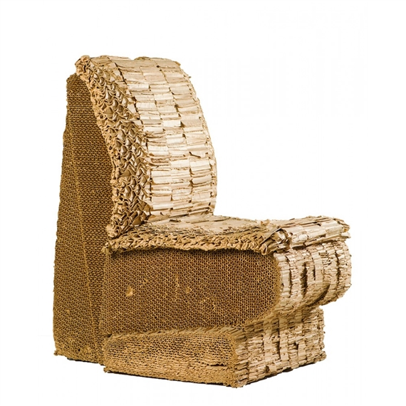Artwork By Frank Gehry, Chair (prototype), Made Of Corrugated Cardboard