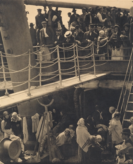 alfred stieglitz the steerage An ambitious photographer, writer, and entrepreneur, alfred stieglitz had a  on  the back of a man in the steerage below, round shapes of iron machinery,.