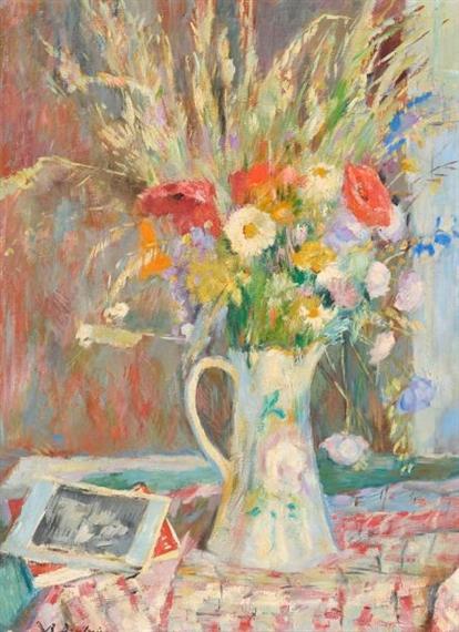 Brietwieser robert bouquet de fleurs des champs dans un pichet mutualart - Bouquet de fleurs des champs ...