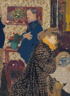 Artwork by Édouard Vuillard, Misia et Vallotton à Villeneuve, Made of oil on board laid down on cradled panel