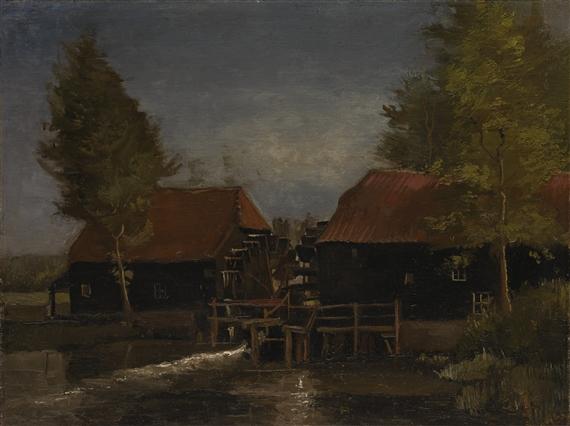 Vincent van Gogh - LE MOULIN À L\'EAU, Circa 1884,...