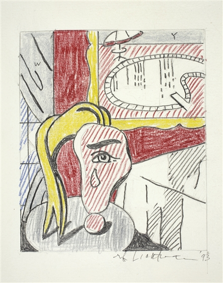 Lichtenstein Roy | DRAWING FOR \'INTERIOR WITH SWIMMING POOL ...