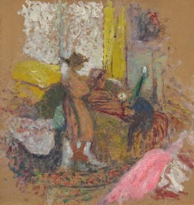 Artwork by Édouard Vuillard, Annette et sa mère, rue de la Tour, Made of oil on board