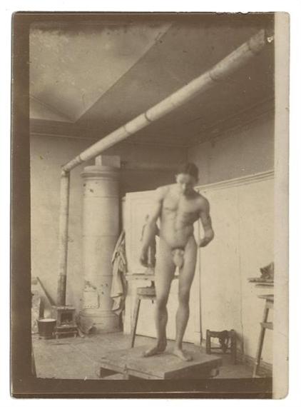 Vladimir Vasilyevichlebedev Modele Nu Masculin Dans Un Atelier De Sculpteur 1915 Mutualart