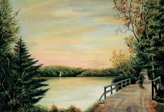 Hudson River School Untitled Afternoon By The River Mutualart