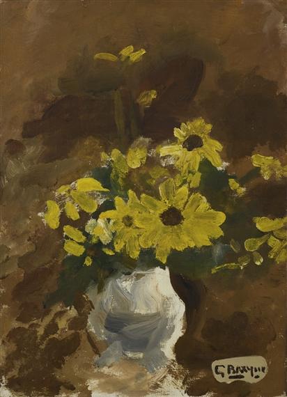 Artworks of georges braque french 1882 1963 for Bouquet de fleurs jaunes