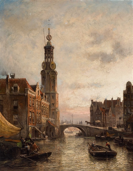 Cornelis Christiaandommelshuizen The Mound Tower Canal
