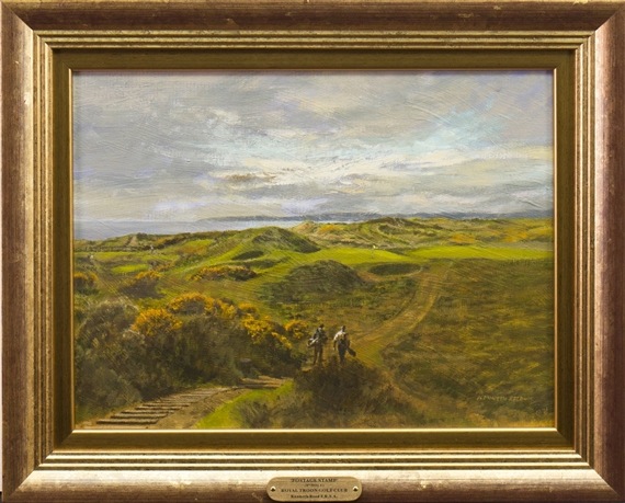 Artwork By Kenneth Reed Postage Stamp 8th Hole Royal Troon Golf Club