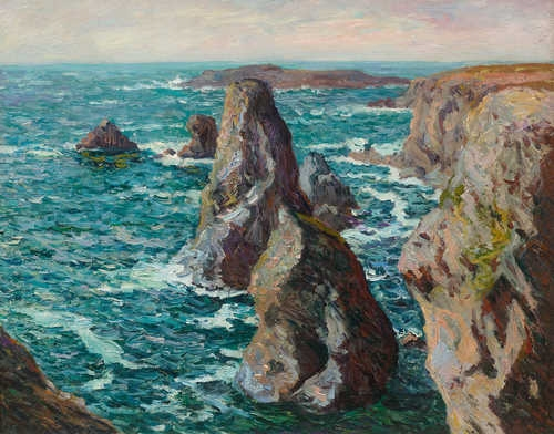 Artwork by Maxime Maufra, Les Pyramides de Port Coton, Made of Oil on canvas