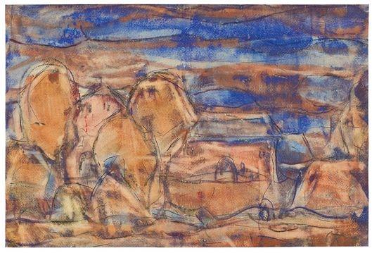 Rote Häuser Bilder christian rohlfs rote häuser 1923 water based