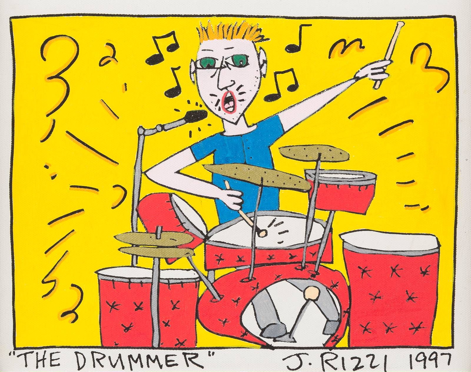 james rizzi  the drummer 1997  mutualart