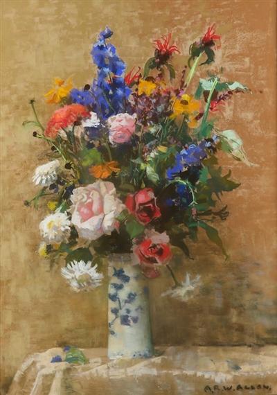 Archibald Russell Watson Allan Midsummer Flowers Mutualart