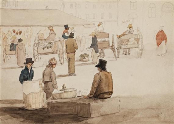 Mercer Alexander Cavalié | Market from Door of Garrison