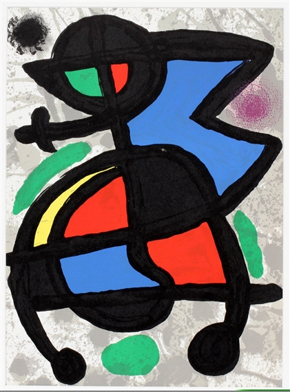 Joan mir derriere le miroir color lithograph for Miro derriere le miroir