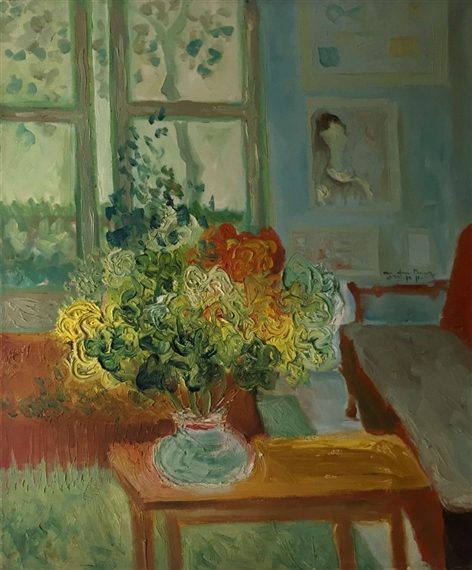 Shlomo Van Den Berg | Interior and Flowers | MutualArt