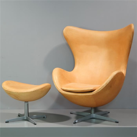 Jacobsen Arne Lounge Sessel Egg Chair Modell 3316 Und Ottomane