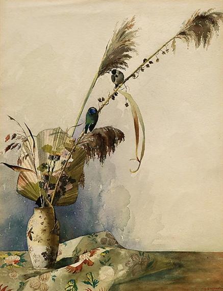 Giacometti augusto japanische vase mit f cher schilf for Japanisches schilf