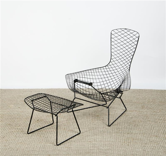 Artwork by Harry Bertoia u0027BIRDu0027 CHAIR AND OTTOMAN FOR KNOLL Made of & Bertoia Harry | u0027BIRDu0027 CHAIR AND OTTOMAN FOR KNOLL | MutualArt