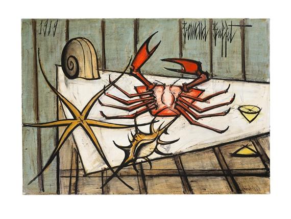 Buffet Bernard | Crabe et coquillages (1989) | MutualArt