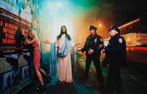 """last supper by david lachapelle analysis art essay When fashion and fine arts photographer david lachapelle saw someone  wearing a """"jesus is my  david lachapelle, last supper, 2003."""