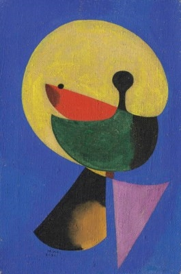 Artwork by Joan Miró, Tête d'homme, Made of oil on canvas