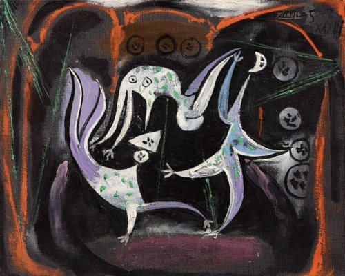 Artwork by Pablo Picasso, Le cirque, Made of oil on canvas
